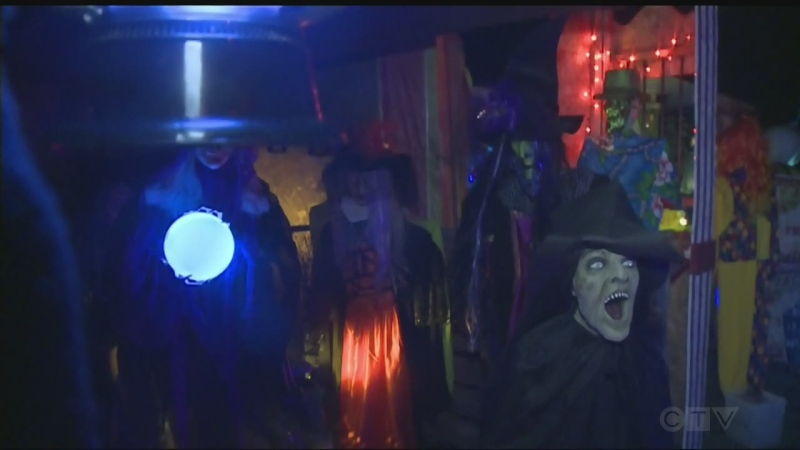 A home in Hanmer has been decorated for Halloween, with the owners hoping to provide some scares and raise money for the Valley Scouts.