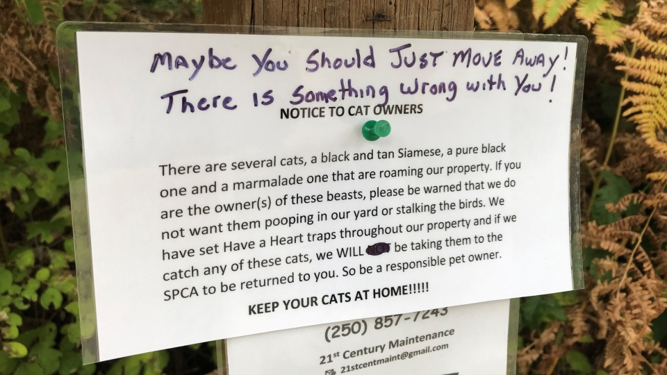 North Saanich cat notes