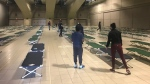 The Edmonton Convention Centre will open its doors to the city's homeless starting Friday. (Darcy Seaton / CTV News Edmonton)