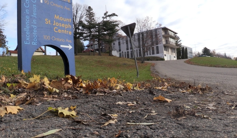 After closing more than a decade ago, The Huron-Superior Catholic District School Board is using Mount St. Joseph College, a former high school for girls, to teach elementary classes virtually. (Christian D'Avino/CTV News)
