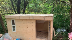 This is an image of one of Khaleel Seivwright's tiny shelters posted to his GoFundMe page. (Khaleel Seivwright / GoFundMe)