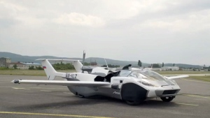 "Klein Vision recently unveiled its ""AirCar Prototype,"" capable of driving on the road and -- after a three-minute transformation -- flying through the air."