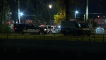 A man is in the hospital after being stabbed and hit with a blunt object after a fight escalated in Lachine Oct. 29, 2020. (Cosmo Santamaria/CTV News)