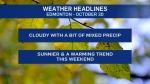 Oct. 30 weather headlines