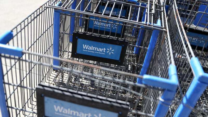 Walmart is removing firearms and ammunition off the sales floor in some of its U.S. stores in response to protests in Philadelphia following the police shooting of Walter Wallace Jr. (Justin Sullivan/Getty Images)
