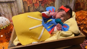 Windsor Regional Hospital staff made Halloween costumes for babies in the NICU on Thursday, Oct. 30, 2020. (Courtesy Windsor Regional Hospital)