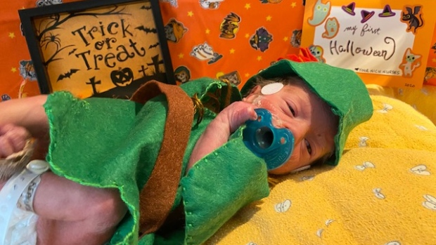 'We're celebrating with them': Nurse makes Halloween costumes for babies in NICU