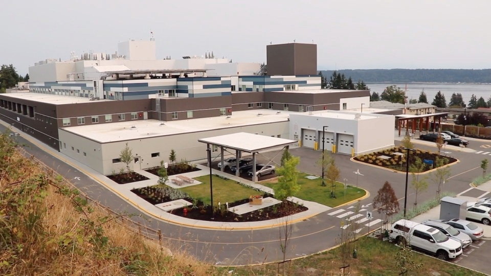 The hospital in Campbell River is shown: (Island Health)