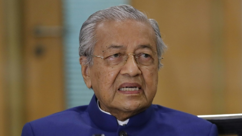 Mahathir launched an extraordinary outburst on Twitter after an attack in southern France saw three people killed. (AFP)