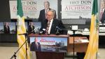 Mayoral Candidate Don Atchison speaks Oct. 30, 2020. (Chad Hills/CTV Saskatoon)