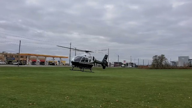 The OPP helicopter joins in the search for 15-year-old Siem Zerezghi who went missing in Bradford, Ont. (South Simcoe Police)