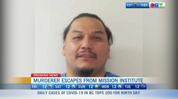 Murderer escapes from mission, breaking news