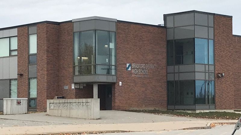 Bradford District High School, in Bradford, Ont. (Jim Holmes/CTV News)