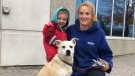 Jessica Brandes was reunited with her dog Ringo on Oct. 30, 2020. (Pat Darrah/CTV News Toronto)