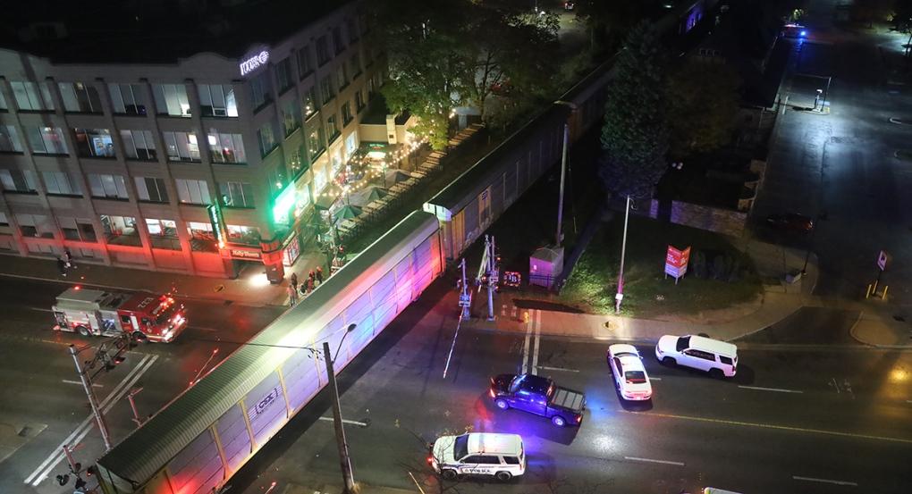 Woman struck by train