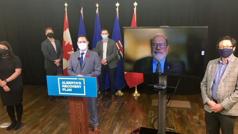 Alberta's Minister of Advanced Education Demetrios Nicolaides announced the partnership with Mitacs on Oct. 30, 2020.