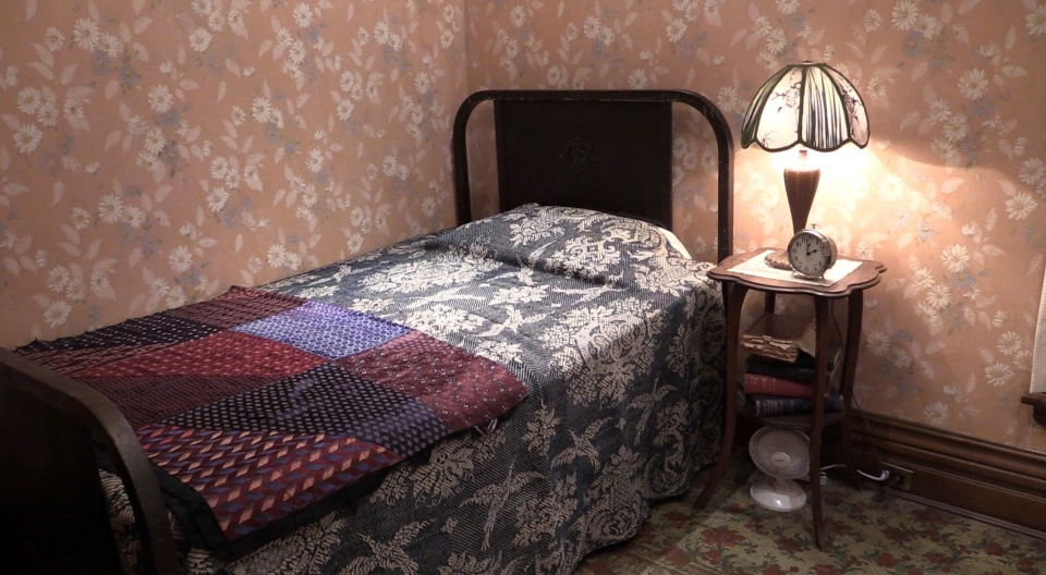 The bedroom of Dr. Frederick Banting is seen at Banting House in London, Ont. on Friday, Oct. 30, 2020. (Celine Zadorsky / CTV News)