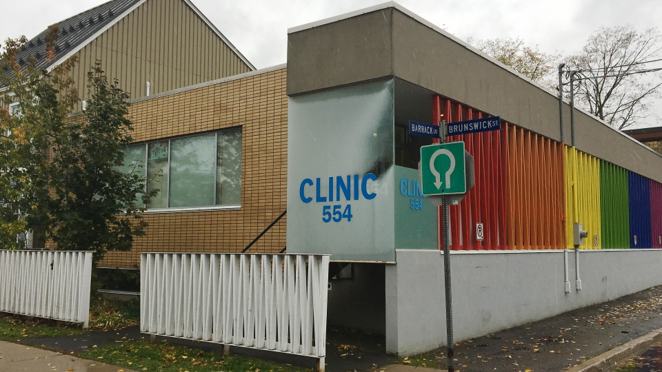 Clinic 554 in Fredericton, N.B., is shown on Thursday, Oct. 17, 2019. The private abortion provider has said numerous times it is closing because the province will not subsidize out-of-hospital abortions -- but as of Friday it was still operating. (THE CANADIAN PRESS/Kevin Bissett)
