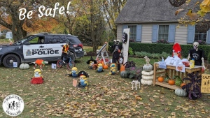A skeleton display in Stratford is promoting a safe Halloween this year (Courtesy: Skeletons of Vivian Line)