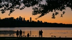 The view from Deer Lake Park in Burnaby, B.C., is seen on Oct. 24, 2020. (Anthony Wan / submitted)