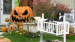 Halloween decorations in Brockville. (Nate Vandermeer/CTV News Ottawa)