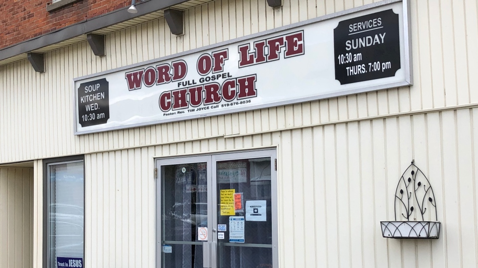 The Word of Life Church in Blenheim, Ont. is seen Friday, Oct. 30, 2020. (Jim Knight / CTV News)