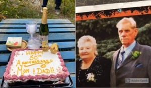 Despite being separated by COVID, John and Angeline Lumsden found a way to celebrate their 50th wedding anniversary.