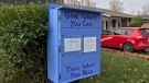 The Little Free Pantry is seen on Vancouver Street in Oshawa, Ont. (Ted Brooks/CTV News Toronto)