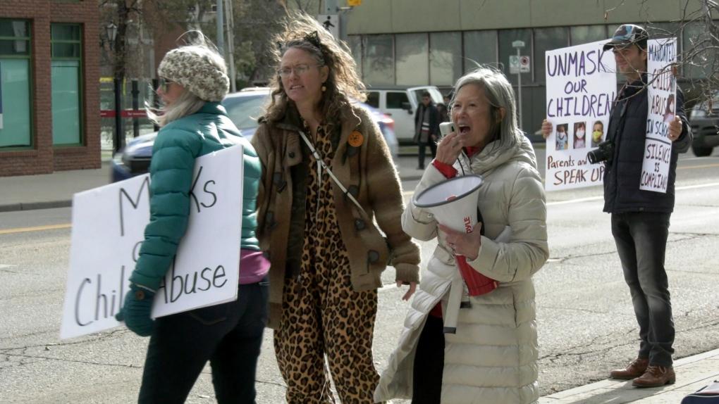 Anti-mask protest Calgary