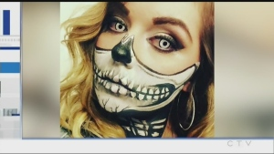 Tony Ryma talks with Chantal Gladu, a Sudbury makeup artist who is busy this time of year doing Halloween makeup.