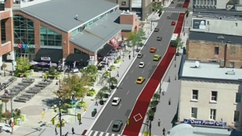 Downtown BRT loops puts bike lanes at risk