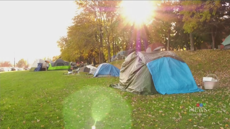 Montreal's tent city residents reluctant to leave