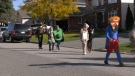 An Orleans neighbourhood holds a Halloween parade. (Katie Griffin/CTV News Ottawa)
