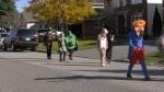An Orleans neighbourhood holds a Halloween parade. (Katie Griffin/CTV News Ottawa)