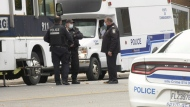 SPVM, Montreal police with masks