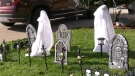 Despite the COVID-19 pandemic, residents of Orleans get into the Halloween spirit. (Katie Griffin/CTV News Ottawa)