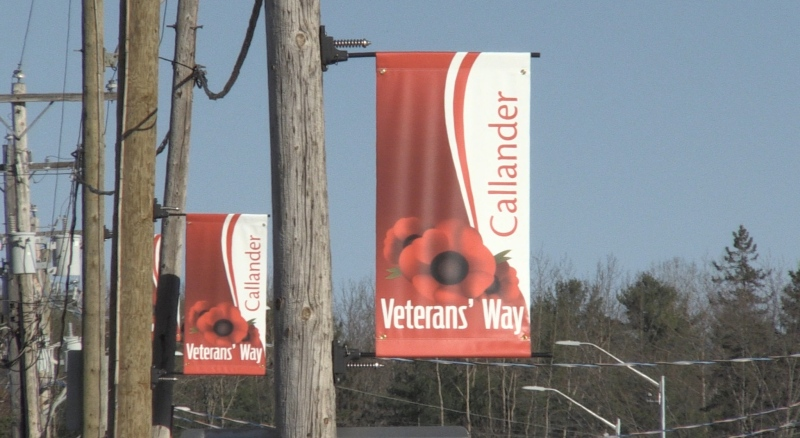 On Friday, the Municipality of Callander and Royal Canadian Legion Branch #445 officially inaugurated a section a main street as 'Veterans' Way' to honour the men and women who served our country. (Eric Tascher/CTV News)