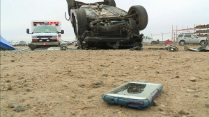 16 people killed by distracted driving last year