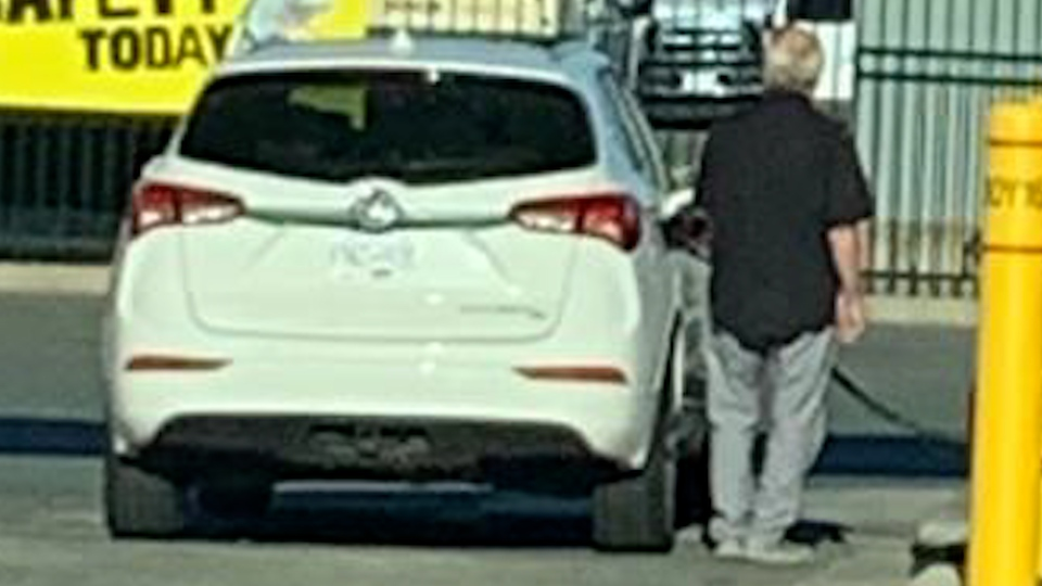 Surrey mayor Doug McCallum was photographed appearing to fill up his vehicle at a city works yard.