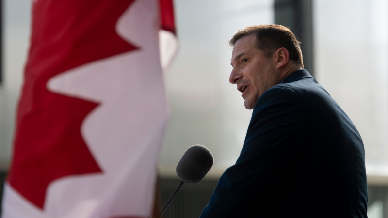 Minister of Immigration, Refugees and Citizenship Marco Mendicino speaks during an announcement in Ottawa, Friday October 30, 2020. THE CANADIAN PRESS/Adrian Wyld