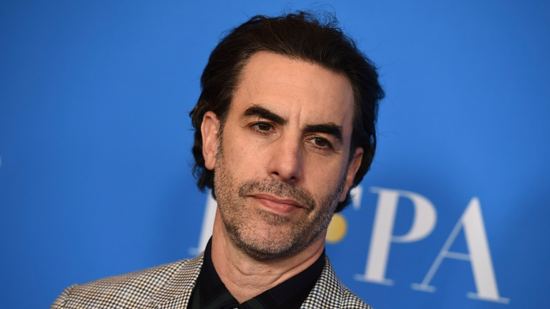 In this Wednesday, July 31, 2019 file photo, Sacha Baron Cohen arrives at the 2019 Hollywood Foreign Press Association's Annual Grants Banquet at the Beverly Wilshire Beverly Hills, Calif. (Jordan Strauss/Invision/AP, File)