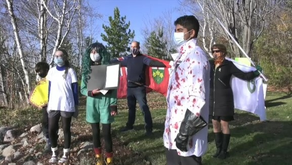 The young people behind Fridays for the Future Sudbury climate strike marked its second anniversary with a small party.