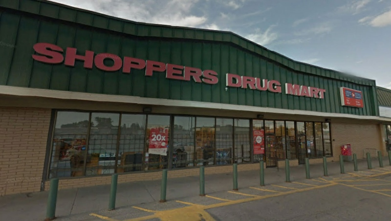 Two employees at this Calgary Shoppers Drug Mart are among the new cases of COVID-19 reported by Loblaw Companies Ltd. this week. (File/Google Maps)