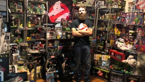 O'Connor seen here with his Guinness World Record winning 'Ghostbusters' collection.  (Credit: Robert O'Connor)