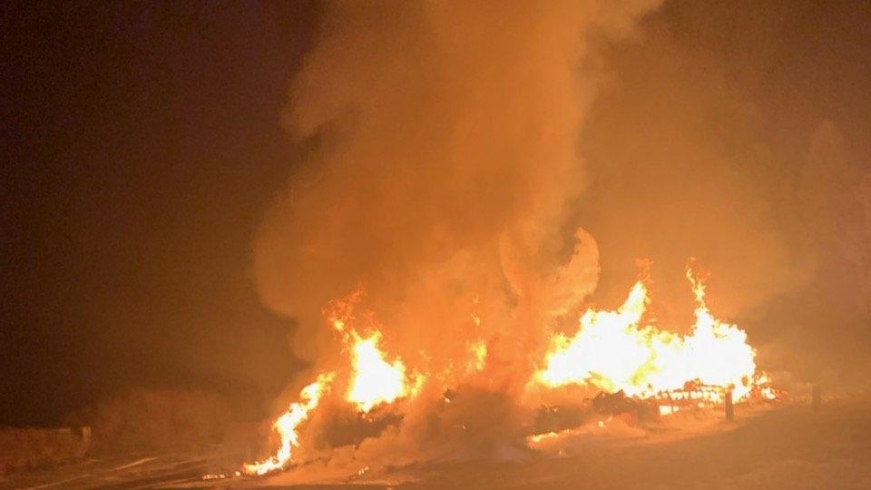 Wallaceburg Snowmobile Club fire