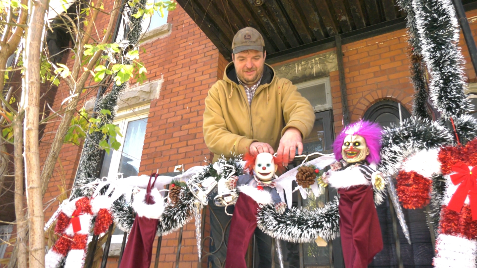 Alain Nantel decorates his Little Italy home for Halloween. (Shaun Vardon/CTV News Ottawa)