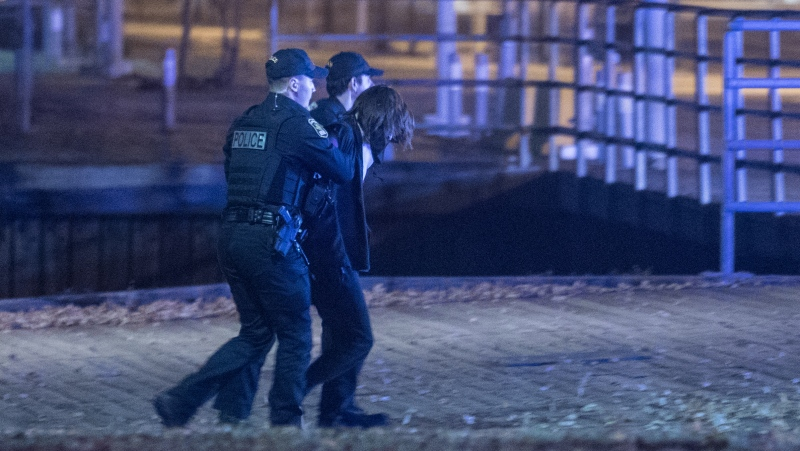 Police arrest Carl Girouard, the suspect in the Quebec City sword attacks.