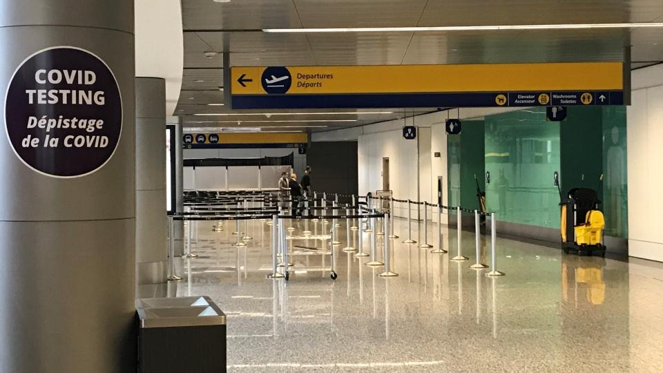 COVID-19, testing, Calgary International Airport
