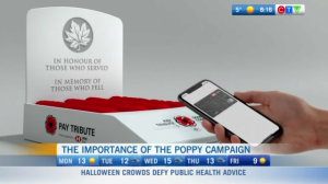 HSBC, Canadian Legion, poppy boxes