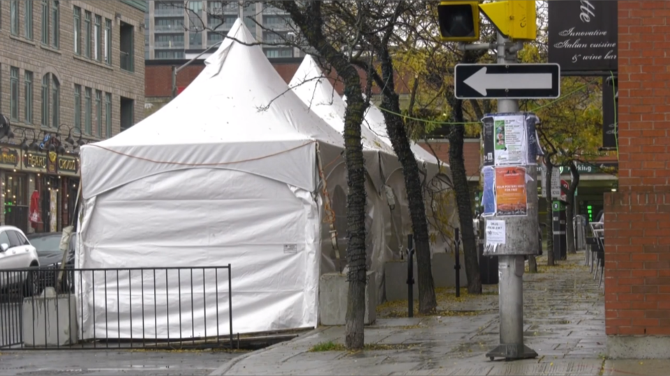 Patio tent in Ottawa
